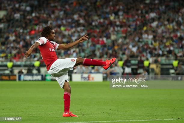Alex Iwobi of Arsenal scores a goal to make it 31 during the UEFA Europa League Final between Chelsea and Arsenal at Baku Olimpiya Stadionu on May 29...