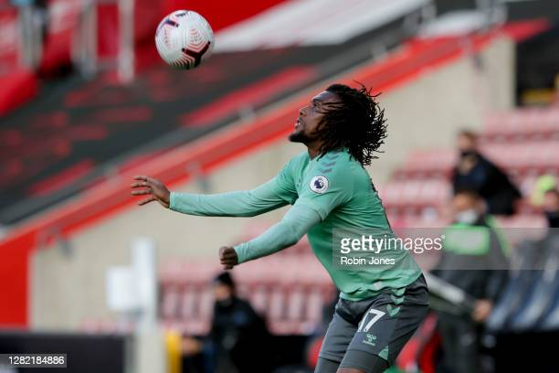 Alex Iwobi of Everton during the Premier League match between Southampton and Everton at St Mary's Stadium on October 25 2020 in Southampton England...