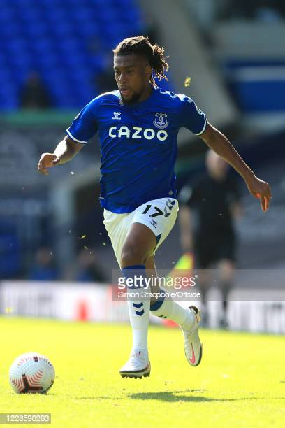 Alex Iwobi of Everton during the Premier League match between Everton and West Bromwich Albion at Goodison Park on September 19 2020 in Liverpool...