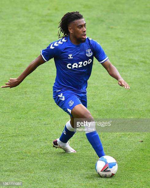 Alex Iwobi of Everton in action during the preseason friendly match between Blackpool and Everton at Bloomfield Road on August 22 2020 in Blackpool...