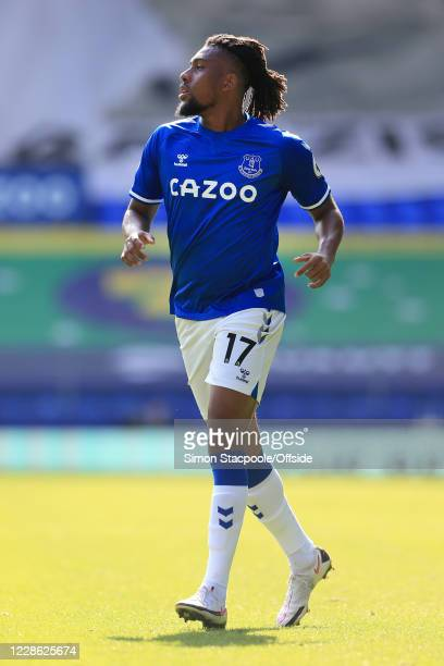 Alex Iwobi of Everton looks on during the Premier League match between Everton and West Bromwich Albion at Goodison Park on September 19 2020 in...