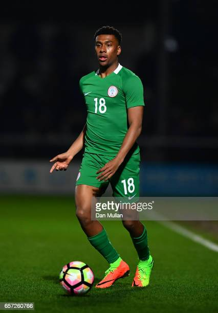Alex Iwobi of Nigeria controls the ball during the International Friendly match between Nigeria and Senegal at The Hive on March 23 2017 in Barnet...