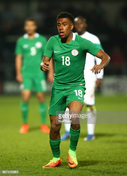 Alex Iwobi of Nigeria during International Friendly match between Nigeria against Senegal at The Hive Barnet FC on 23rd March 2017