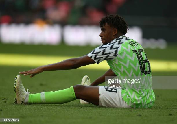 Alex Iwobi of Nigeria during International match between England against Nigeria at Wembley stadium London on 02 June 2018