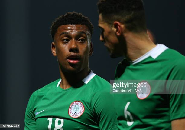 Alex Iwobi of Nigeria during the International Friendly match between Nigeria and Senegal at The Hive on March 23 2017 in Barnet England