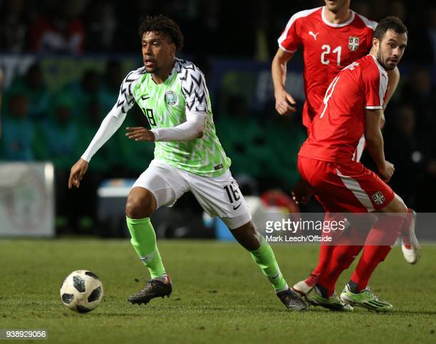 Alex Iwobi of Nigeria during the International Friendly match between Nigeria and Serbia at The Hive on March 27 2018 in Barnet England