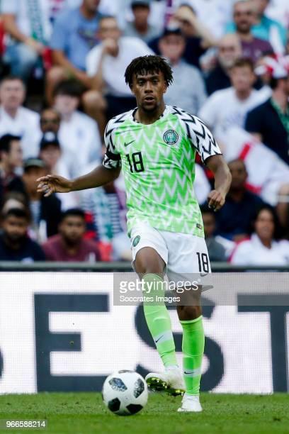 Alex Iwobi of Nigeria during the International Friendly match between England v Nigeria at the Wembley Stadium on June 2 2018 in London United Kingdom