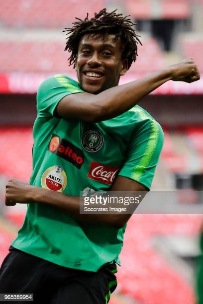 Alex Iwobi of Nigeria during the Nigeria Training at the Wembley Stadium on June 1 2018 in London United Kingdom