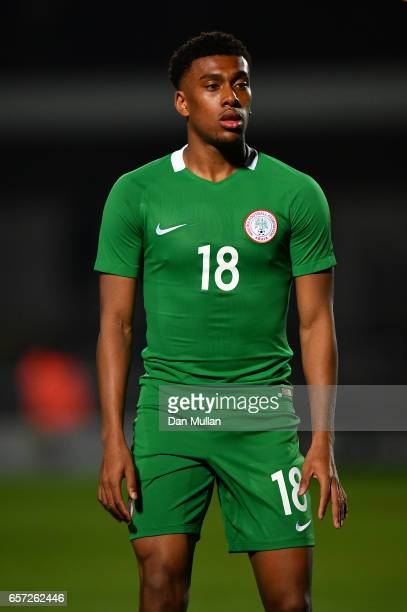 Alex Iwobi of Nigeria looks on during the International Friendly match between Nigeria and Senegal at The Hive on March 23 2017 in Barnet England