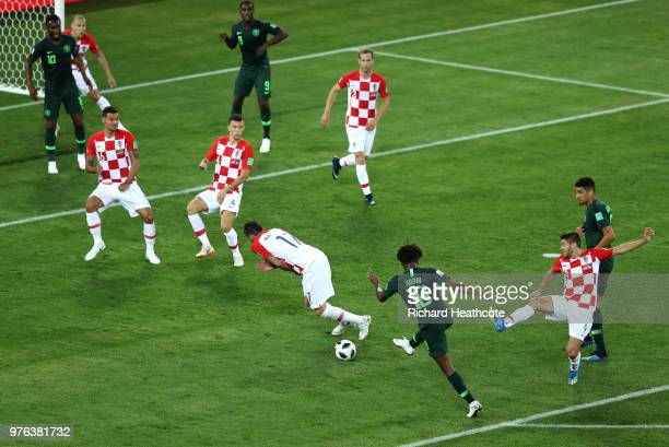Alex Iwobi of Nigeria shoots during the 2018 FIFA World Cup Russia group D match between Croatia and Nigeria at Kaliningrad Stadium on June 16 2018...