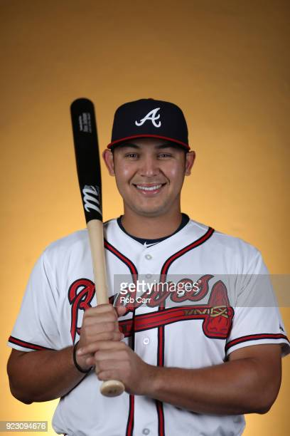 Alex Jackson of the Atlanta Braves poses for a photo during photo days at Champion Stadium on February 22 2018 in Lake Buena Vista Florida