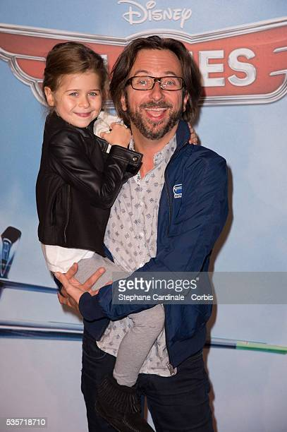 Alex Jaffray with his daughter Margaux attend the premiere of 'Planes' at UGC Normandie in Paris