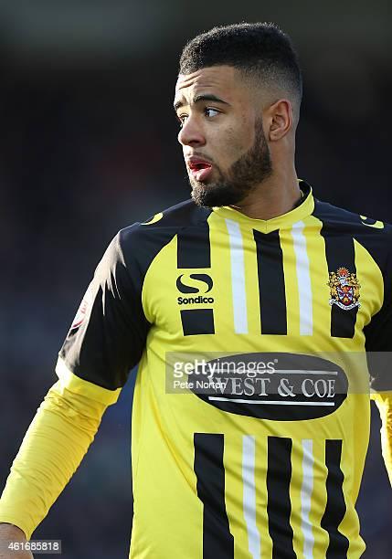 Alex Jakubiak of Dagenham Redbridge in action during the Sky Bet League Two match between Northampton Town and Dagenham Redbridge at Sixfields...