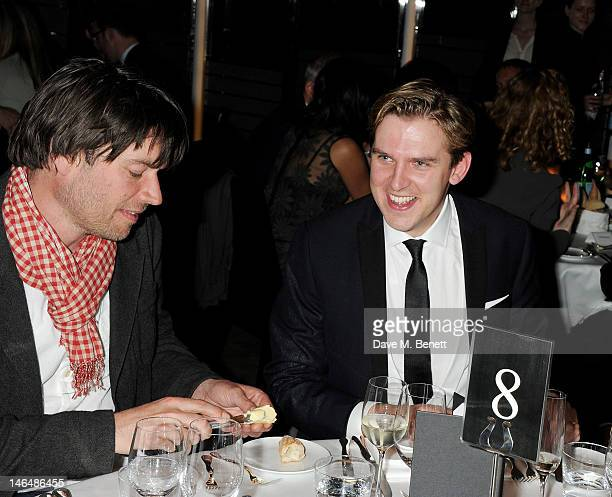 Alex James and actor Dan Stevens attend the GQ Dinner hosted by Dylan Jones Harold Tillman And Italo Zucchelli to celebrate the inaugural London...