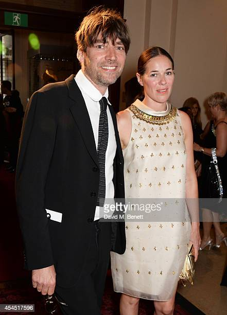 Alex James and Claire James attend the GQ Men Of The Year awards in association with Hugo Boss at The Royal Opera House on September 2 2014 in London...