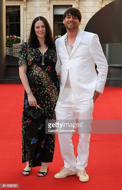 Alex James and Claire Neate arrive at the Royal Academy of Arts Summer Exhibition on June 4 2008 in London United Kingdom