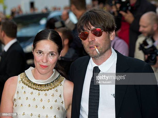 Alex James and Claire Neate arriving at the GQ Men of the Year Awards at the Royal Opera House in London