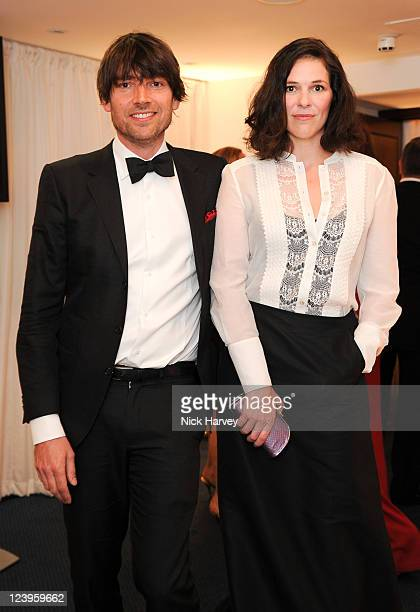 Alex James and Claire Neate attend the GQ Men Of The Year Awards at The Royal Opera House on September 6 2011 in London England