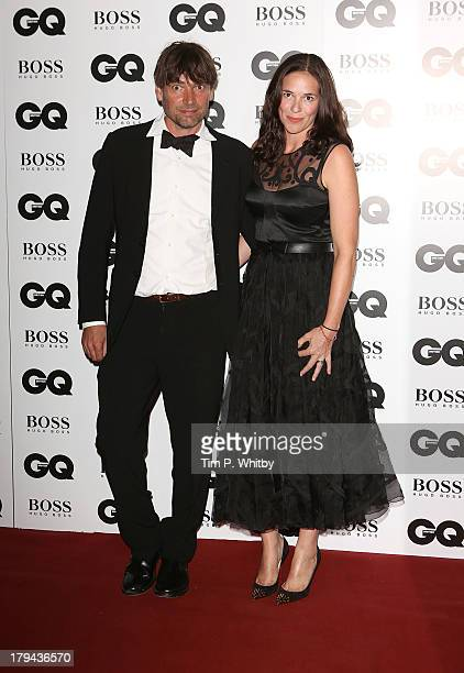 Alex James and Claire Neate attend the GQ Men of the Year awards at The Royal Opera House on September 3 2013 in London England