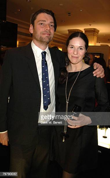 Alex James and Claire Neate James attend The Grand Classics Film Charity 5th Birthday at Dom Perignon Enotheque Bar on February 14 2007 in London...