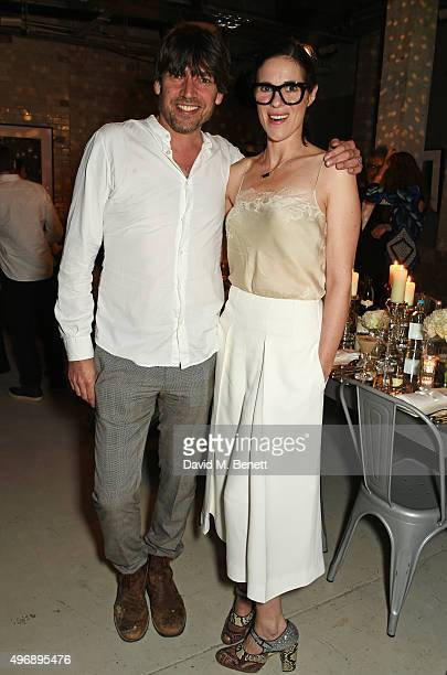 Alex James and Claire NeateJames attend an intimate dinner party hosted by Alice Temperley to celebrate 15 years of Temperley at GWP Studio on...