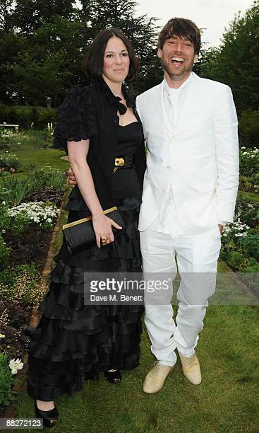 Alex James and wife Claire Neate arrive at the Raisa Gorbachev Foundation Annual Fundraising Gala Dinner at the Stud House Hampton Court Palace on...
