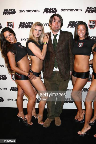 Alex James Arrivals at the Death Proof celebrity banger race Alex James surrounded by Hustler Girls including 'Bo' who's showing her cleavage 17th...