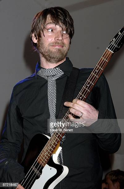 Alex James of Blur perform at the Art Plus Music a benefit party celebrating the crossover between art and music and raising funds for the...