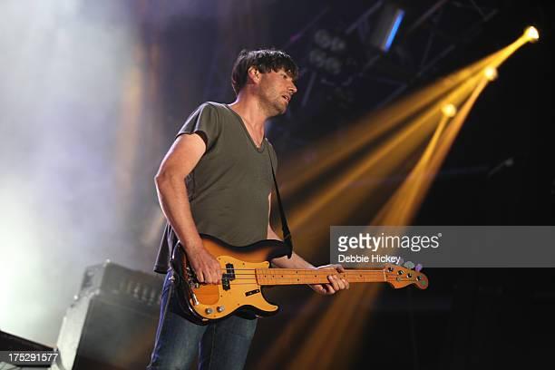 Alex James of Blur performs at Royal Hospital Kilmainham on August 1 2013 in Dublin Ireland