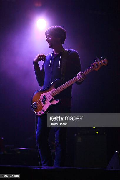 Alex James of Blur performs on stage during Way Out West on August 10 2012 in Gothenburg Sweden