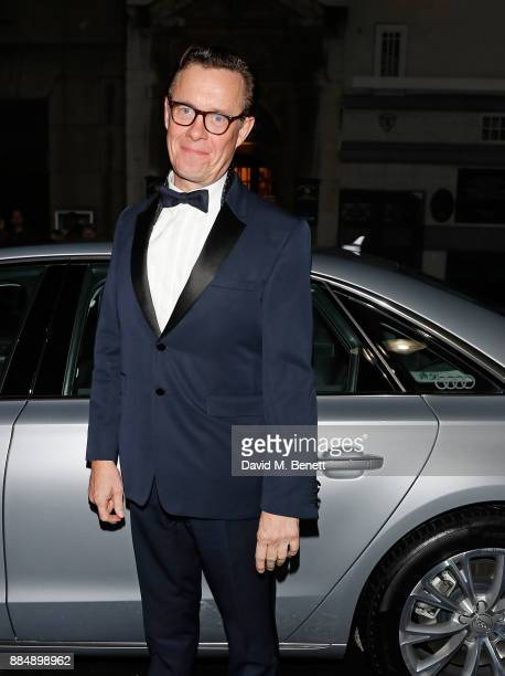 Alex Jennings arrives in an Audi at the Evening Standard Theatre Awards at Theatre Royal on December 3 2017 in London England