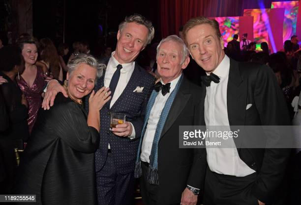 Alex Jennings, Karl Johnson and Damian Lewis attend the after party of the 65th Evening Standard Theatre Awards in association with Michael Kors at...