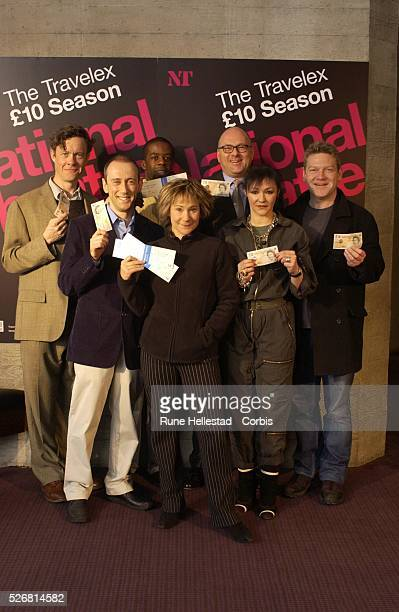 Alex Jennings Nicholas Hytner Adrian Lester Zoe Wanamaker Lloyd Dorfman Frances Barber and Kenneth Branagh at a photocall for the Royal National...