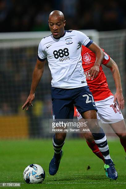 Alex JohnBaptiste of Preston North End during the Sky Bet Championship match between Preston North End and Huddersfield Town at Deepdale on October...