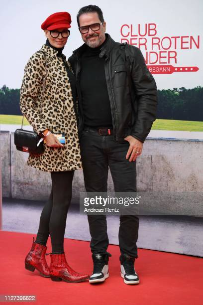 "Alex Jolig and Britt Jolig attend the German premiere of the film ""Club der Roten Baender - Wie alles begann"" at Cinedom on February 04, 2019 in..."