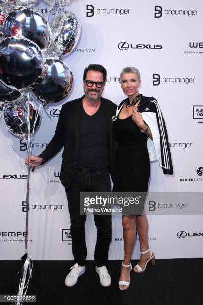 Natalia Osada and Johanna Garth attend the Breuninger show during Platform Fashion July 2018 at Areal Boehler on July 20 2018 in Duesseldorf Germany
