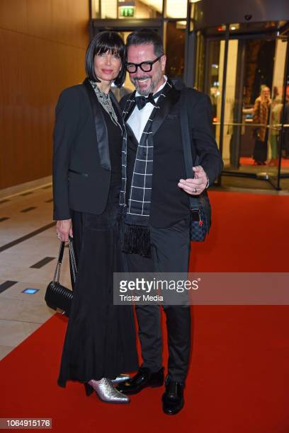 Alex Jolig and his wife Britt JoligHeinz during the Dolphin's Night at InterContinental Hotel on November 24 2018 in Duesseldorf Germany