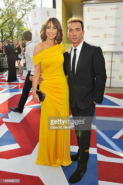 Alex Jones and Bruno Tonioli arrive at the Arqiva British Academy Television Awards 2012 at Royal Festival Hall on May 27 2012 in London England