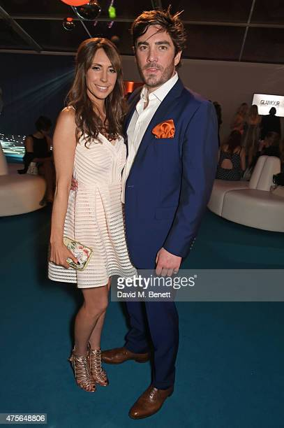 Alex Jones and Charlie Thomson attend the Glamour Women Of The Year awards at Berkeley Square Gardens on June 2 2015 in London England