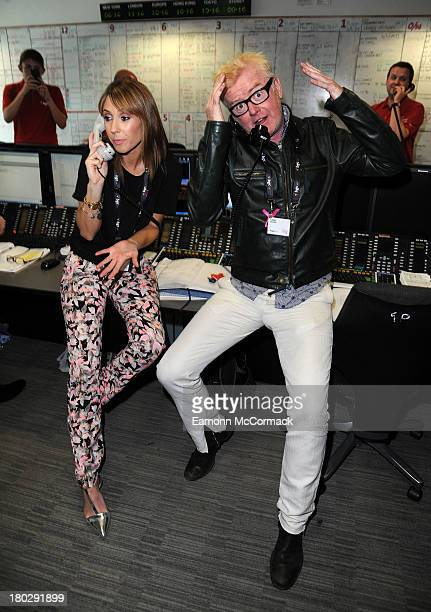 Alex Jones and Chris Evans attend the BGC Partners charity day at Canary Wharf on September 11 2013 in London England