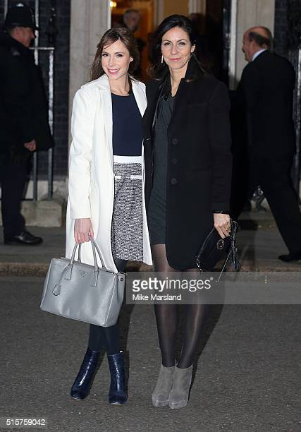 Alex Jones and Julia Bradbury attend a reception for Sports Relief hosted by David Cameron at 10 Downing Street on March 15 2016 in London England