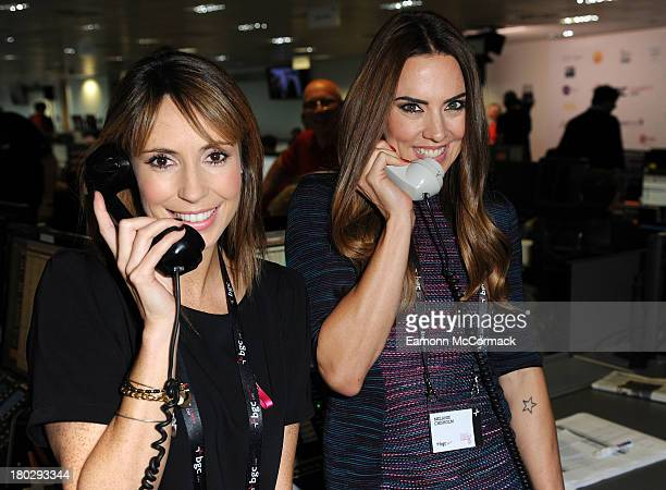 Alex Jones and Melanie Chisholm attend the BGC Partners charity day at Canary Wharf on September 11 2013 in London England
