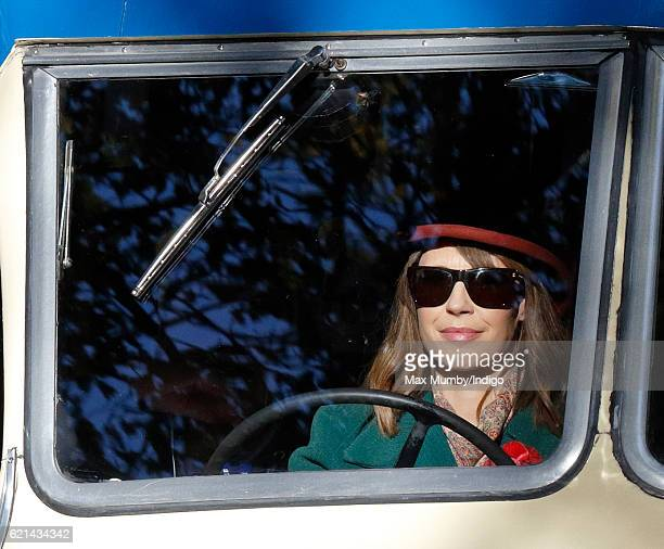 Alex Jones drives a Bedford Bus as he takes part in the 120th London to Brighton Veteran Car Run on November 6 2016 in Staplefield England Over 400...