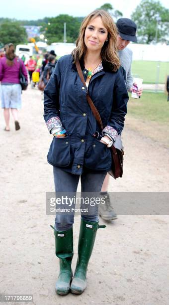 Alex Jones of The One Show backstage during day 2 of the 2013 Glastonbury Festival at Worthy Farm on June 28 2013 in Glastonbury England