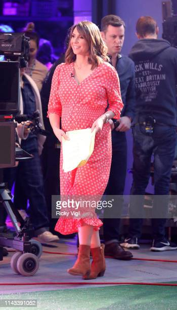 Alex Jones seen filming The One Show at BBC Broadcasting House on April 17 2019 in London England