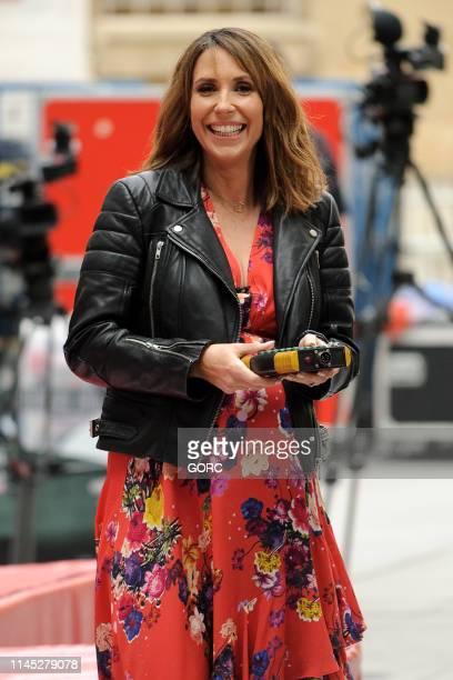 Alex Jones seen rehearsing for the One Show outside BBC TV studios on April 26 2019 in London England