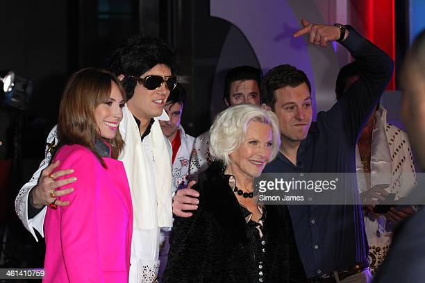 Alex Jones Vernon KayHonor Blackman and Matt Baker seen on January 8 2014 in London England