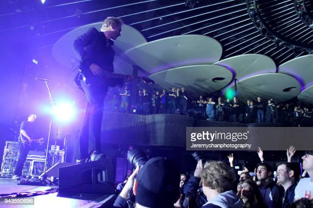 Alex Kapranos and Bob Hardy of Franz Ferdinand perform at REBEL on April 8 2018 in Toronto Canada