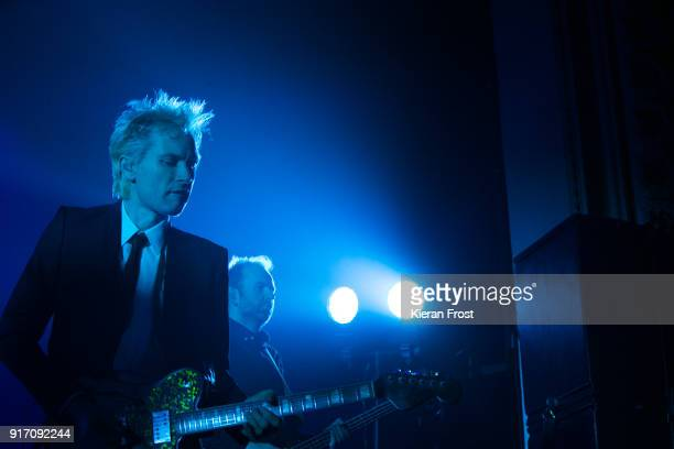 Alex Kapranos and Bob Hardy of Franz Ferdinand perform live at the Olympia Theatre on February 11 2018 in Dublin Ireland