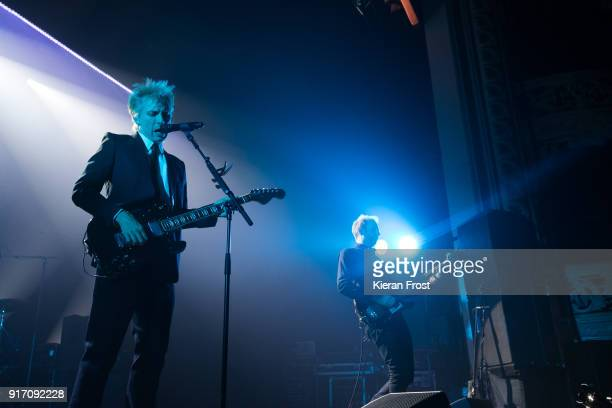 Alex Kapranos and Bob Hardy of Franz Ferdinand performs live at the Olympia Theatre on February 11 2018 in Dublin Ireland